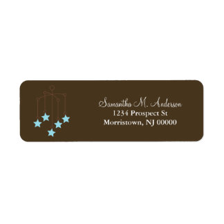 Blue Baby Mobile Label