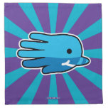 Hand shaped Blue Baby Narwhal Whale Tooth Cloth Napkin