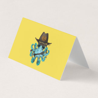 Blue Baby Octopus Zombie Hunter Card