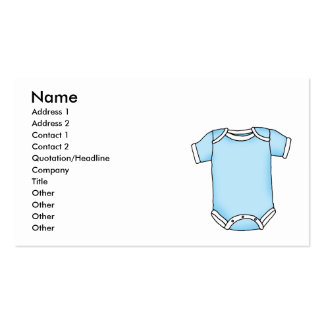blue baby one piece business card templates