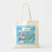 Blue Baby Owl | Nursery Theme Tote Bag