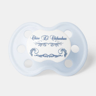 Blue Baby Pacifier - Chico El Chihuahua