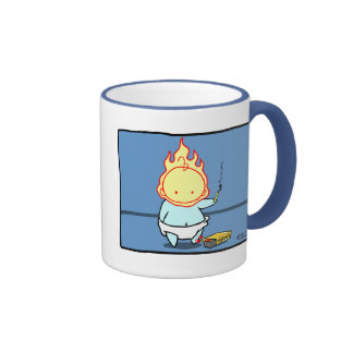 Blue Baby Plays with Matches Mug