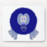 Blue Baby Pom Pom Pal Mousepad