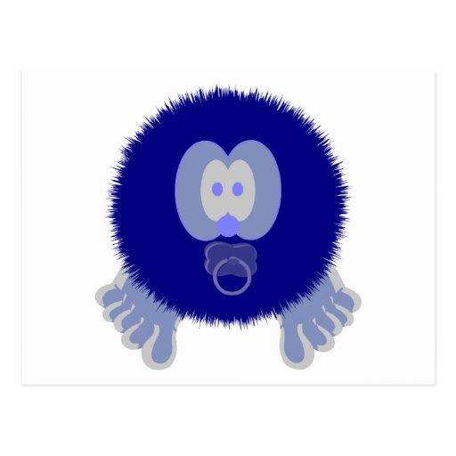 Blue Baby Pom Pom Pal Postcard