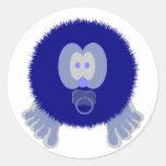 Blue Baby Pom Pom Pal Stickers