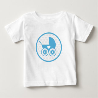 Blue Baby Pram Icon T-Shirt