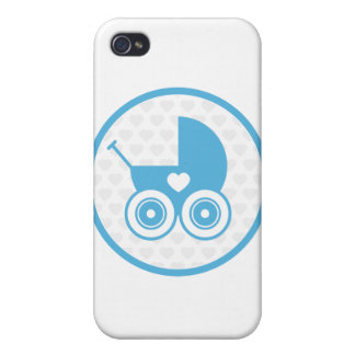 Blue Baby Pram iphone 4 Case