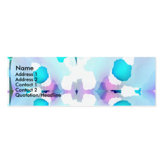 Blue Baby Print Double-Sided Mini Business Cards (Pack Of 20)