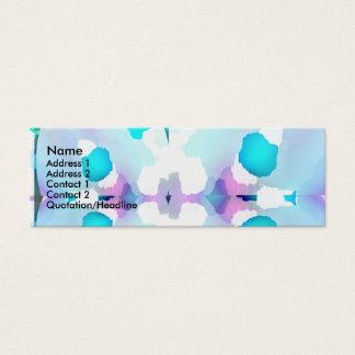 Blue Baby Print Mini Business Card
