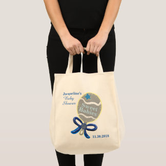Blue Baby Rattle Multiples Boy Tote Bags
