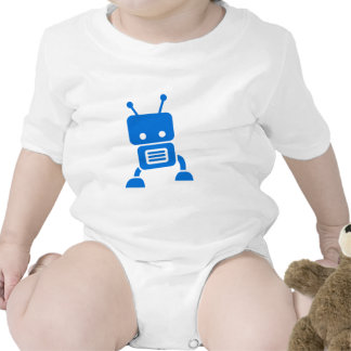 Blue Baby Robot Baby Clothes T-shirt