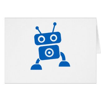 Blue Baby Robot Thank You Cards