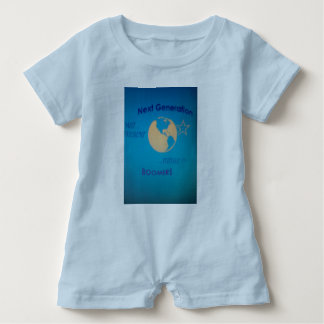 Blue Baby Romper Baby Boomer Next Generation