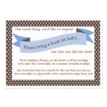 Blue Baby Shower Book Insert Request Card Business Cards