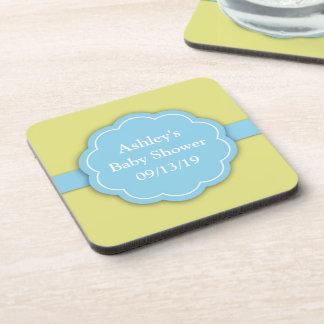 Blue Baby Shower Boy Coaster (set of 4)
