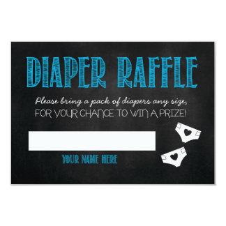 Blue Baby Shower Diaper Raffle Ticket 3.5x5 Paper Invitation Card