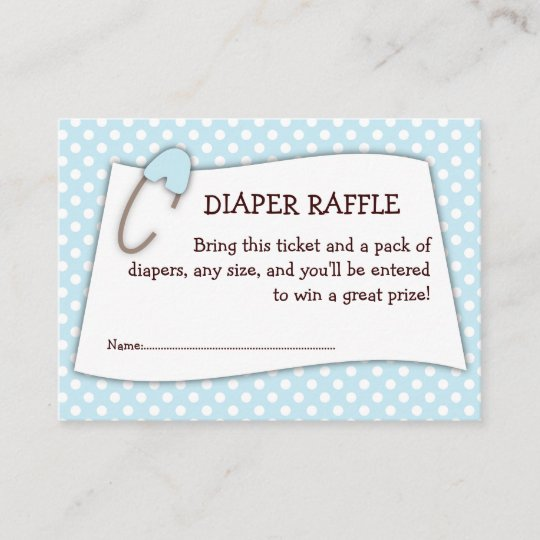 Baby Shower Diaper Raffle: Blue Baby Shower Diaper Raffle Ticket Insert
