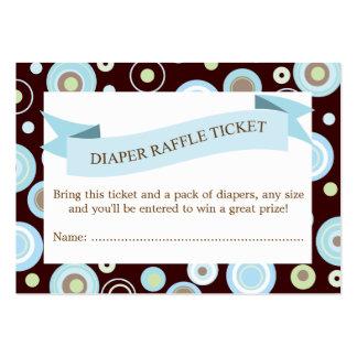 Blue Baby Shower Diaper Raffle Ticket Insert Business Card Template