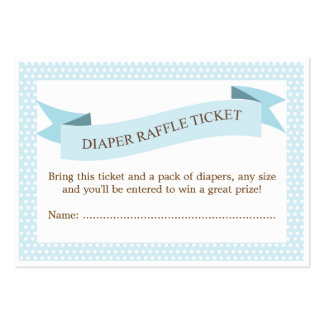 Blue Baby Shower Diaper Raffle Ticket Insert Business Cards