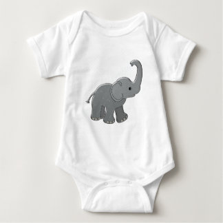 blue baby shower elephant baby bodysuit
