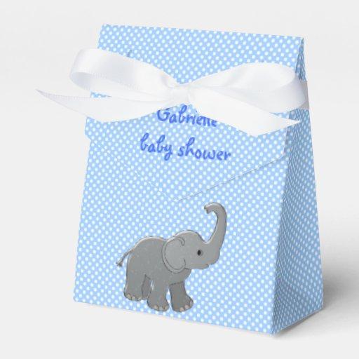 Blue Baby Shower Favor Boxes : Blue baby shower elephant favor box zazzle
