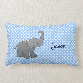 blue baby shower elephant throw pillows