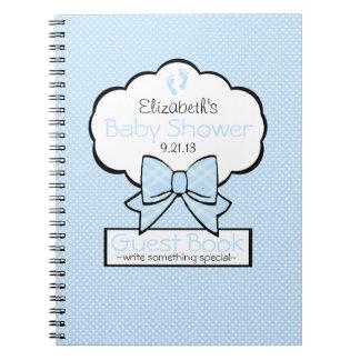Blue Baby Shower Guest Book- Spiral Notebook