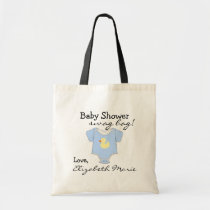 Blue Baby Shower Guest Favor Tote Bag