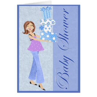 Blue Baby Shower Invitation Cards