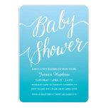 Blue Baby Shower invitation | Handwritten script