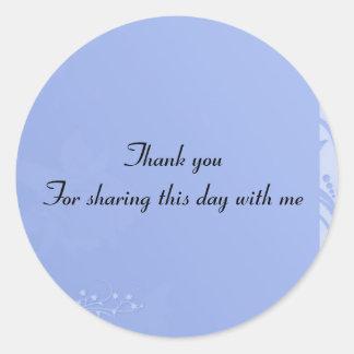 Blue Baby Shower invitation Classic Round Sticker