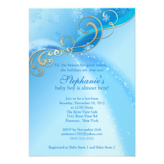 winter wonderland baby shower invitations