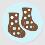 Blue Baby Socks Stickers