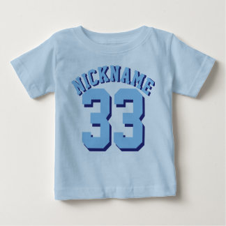 Blue Baby | Sports Jersey Design Baby T-Shirt
