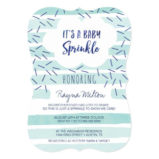 Blue Baby Sprinkle Invitations for a Baby Boy