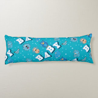 Blue Baby Zoo Animals Body Pillow