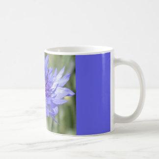 Blue Bachelor Button Flower Coffee Mug