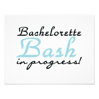 Blue Bachelorette Bash T-shirts and Gifts Custom Invitation