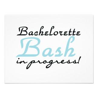 Blue Bachelorette Bash T-shirts and Gifts Custom Invitation