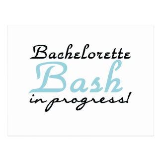 Blue Bachelorette Bash T-shirts and Gifts Post Cards