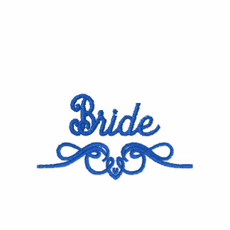 Blue Bachelorette With Back Flourish Embroidered Polo Shirt