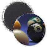 Blue Background 2 Inch Round Magnet