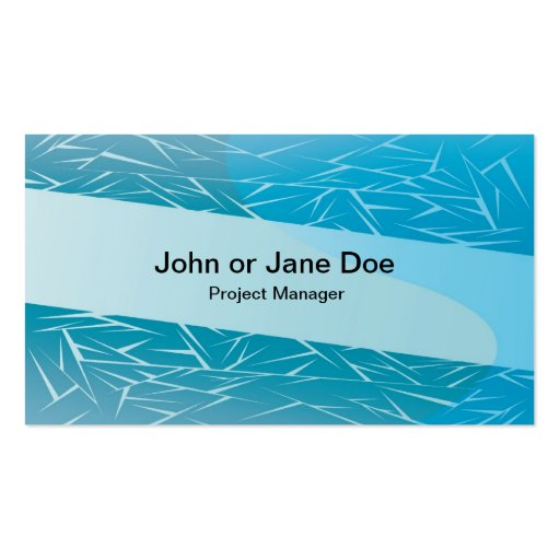 blue background 5 business card