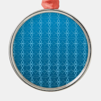 Blue Background Fash Metal Ornament