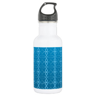 Blue Background Fash Stainless Steel Water Bottle