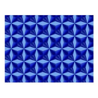 Blue Background Pattern Postcard