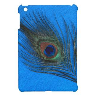 Blue Background Peacock Feather iPad Mini Case