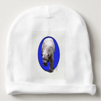 Blue Background Polar Bear_2017-04-23 15-06-09 Baby Beanie