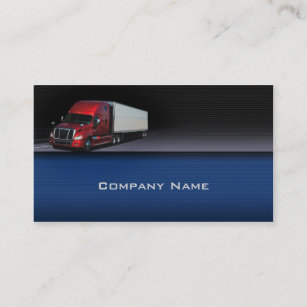 Red background business cards templates zazzle blue background red truck business card reheart Gallery